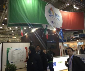 Panoramica dello stand Italia